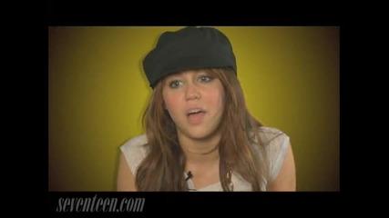 Miley Cyrus позира за списание Seventeen
