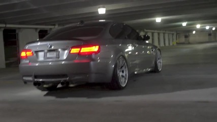 Bmw M3 E92 Burnout в подземния паркинг! ! www.streetcustomsbg.at.ua