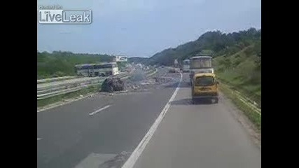 Car vs bus accident, aftermath, 3 killed
