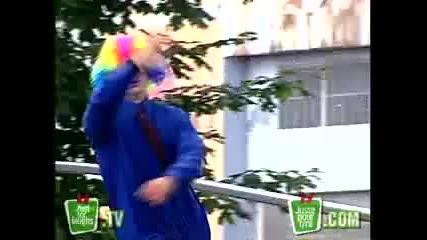 Скрита камера-клоунът