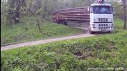 Екстремно преминаване през стръмни завои с натоварен камион