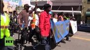Първомайски протести в Окланд против полицейското насилие