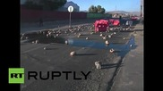 Chile: Mining town burns after strikers bring Codelco copper pit operations to halt