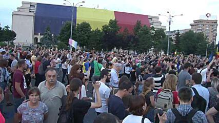 Romania: Thousands celebrate Dragnea abuse sentencing in Bucharest