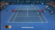 Феноменална точка на Григор Димитров срещу Роджър Федерер в Бризбейн 08.01.2016