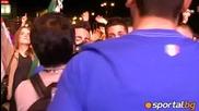Вижте с коя песен италианците поздравиха англичаните след 1/4-финала