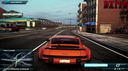 [ H D ] Nfs Most Wanted 2012 : Porsche 911 Turbo 3.0 остана по джанти.