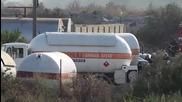 Цистерна с газ се взриви край Езерово