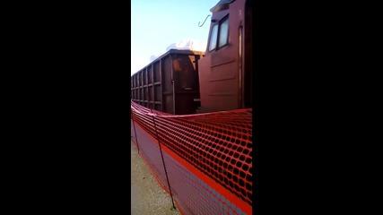 Товарен влак с 07 040 пристига на гара Димитровград