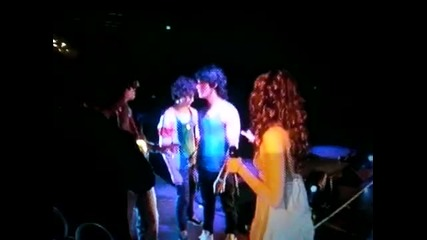 Miley Being Rude To Joe As She Goes And Hugs Nick