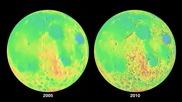 Наса показа най - подробната топографска карта на Луната