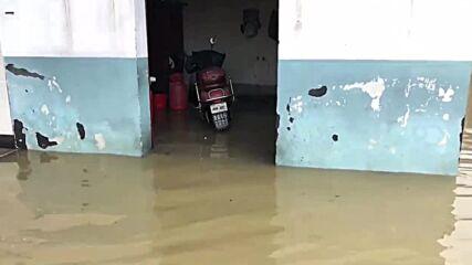 China: Zhuji City flooded after typhoon hits south of Shaoxing