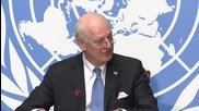 Switzerland: De Mistura touts 'essential principles' as latest Syria talks conclude