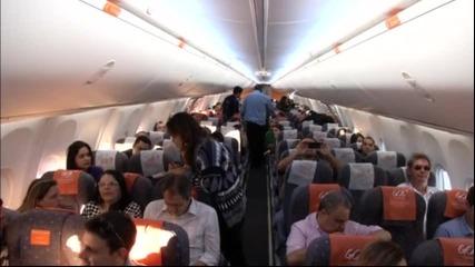 Шарен самолет ще вози кариоките на Мондиала
