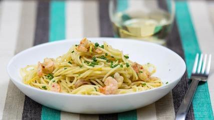 Goodlife: Пикантни спагети със скариди