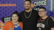 Ronda Rousey and Roman Reigns walk the orange carpet at the 2018 Nick Kids' Choice Sports Awards: WWE.com Exclusive, Jul