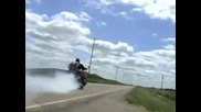 boss hoss burn out 120mph 1 4 mile burn