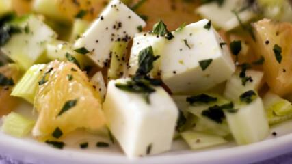 Салата от фенел, грейпфрут и сирене фета | Рецепти за всеки ден с Рейчъл | 24Kitchen Bulgaria