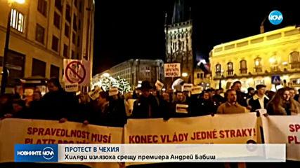 Десетки хиляди на протест срещу премиера на Чехия