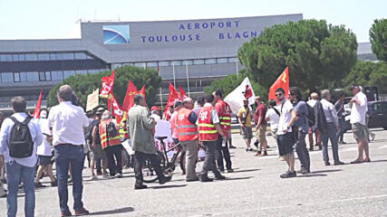 France: Airbus workers march to Toulouse-Blagnac airport against job cuts