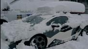 Пълна Лудница ! Ламбо на сняг