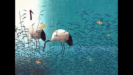 Летят жерави...(hao Boyi Chinese artist)...(ян Френкель,текст Расул Гамзатов)...(превод katju6a)...