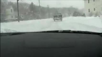 Пич пазарува с Audi R8 през зимата