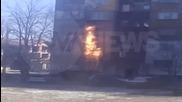 Пожар изпепели апартамент във Враца