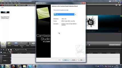 Как да конвектирате с Camtasia Studio7