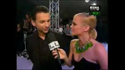 Dave Gahan На Червения Килим MTV EMA 07