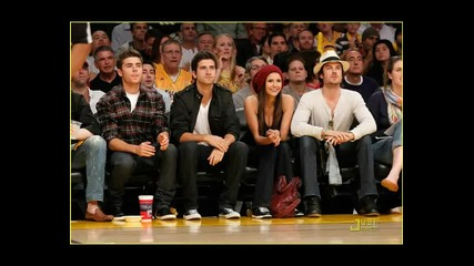 Nina Dobrev / Ian Somerhalder = Lakers Game May 27 2010