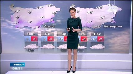 Прогноза за времето (29.12.2014 - сутрешна)