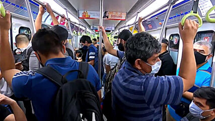 Argentina: Packed public transport presents social distancing problems in Buenos Aires amid COVID surge