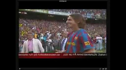 50000 зрители посрещнаха Ибрахимович в Барселона