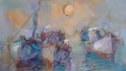Абстрактни Морски Пейзажи Маслени Бои Живопис -картини от Ангелина Недин