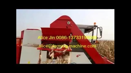 Three-row Self-propelled Corn Harvester, Corn Combine Harvester