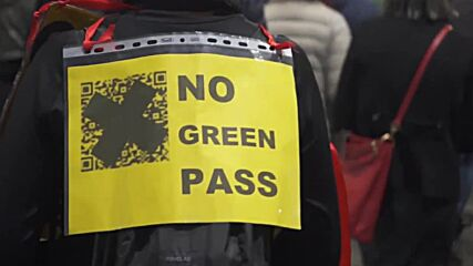 Italy: Opponents of COVID Green Pass rally in Milan