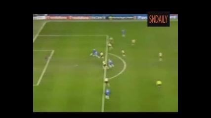 Челси 1 - 0 Ювентус (25.02.09).flv Гол На Дрогба