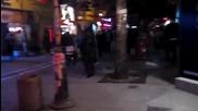 Мадама с минижуп в масово пиянско меле в центъра на Благоевград