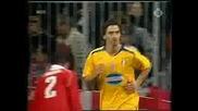 Гол На Zlatan Ibrahimovic Срещу Bayern M