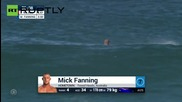 South African Surfer Mick Fanning Punches Shark