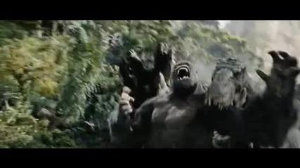 Video King Kong uc tane T - Rex ile dovusuyor - Timsah.com