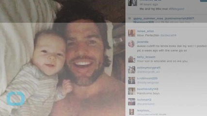 Carrie Underwood's Husband Mike Fisher Shares Photo of Himself and Their New Baby