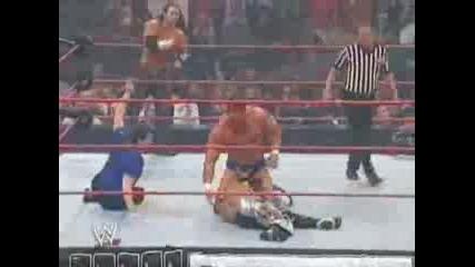 Matt Hardy & Rey Mysterio vs. Chris Masters & Snitsky (tag Team Mach Smackdown vs. Raw)