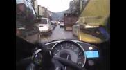 Зверско Каране На Мотор В Градски Условия