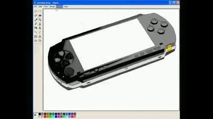 Как да нарисуваме Psp устройство с Paint
