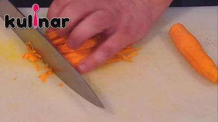 Как да нарежем морков на кубчета