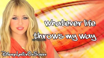 Hannah Montana - Que Sera (lyrics Video) Hd