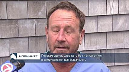 Гмуркач оцеля, след като бе глътнат от кит в американския щат Масачузетс