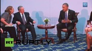 Panama: Castro and Obama hold momentous meeting in Panama City